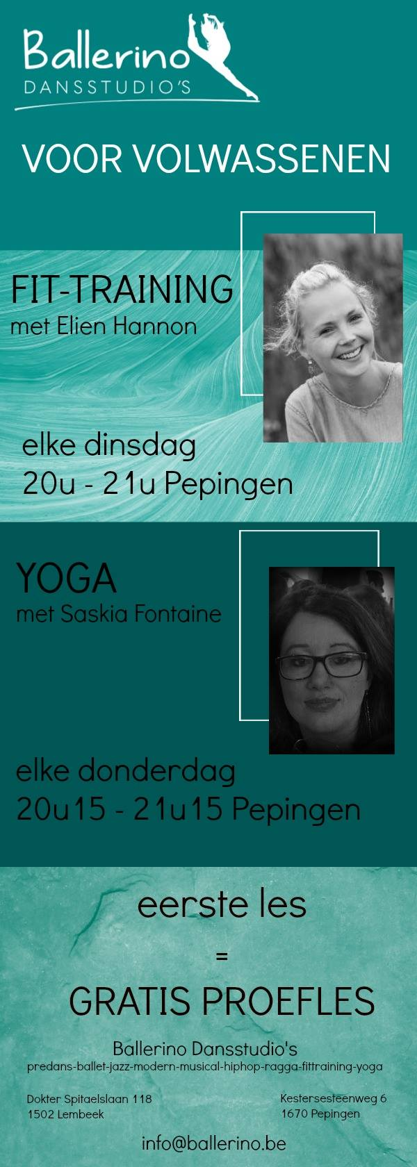 Fit Training en Yoga voor volwassenen