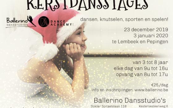 Kerstdansstages voor onze allerkleinsten